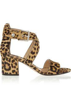64d1598779 Gianvito Rossi Leopard-print calf hair sandals