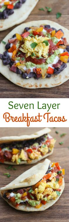 Seven Layer Breakfast Tacos | Tastes Better From Scratch