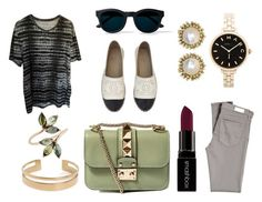 """""""We are back in Business"""" by jennathompson504 on Polyvore featuring AllSaints, AG Adriano Goldschmied, Chanel, Smashbox, Valentino, Marc by Marc Jacobs, Kendra Scott, women's clothing, women and female"""