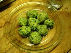 """Mano Manischewitz P90X Matzo """"Medicine"""" Balls    3 egg whites  1 cup kale leaves  1 -1/2 cups Whole wheat flour (or W.W. Matzo Meal)  ½ teaspoon Onion powder   ¼ cup or less of evoo    Mix all ingredients in a food processor into a moist paste.  Wet both hands and form mix into walnut sized balls (they'll double in size when cooked).  Boil 2 quarts of water and drop balls into boiling water.  Reduce heat , simmer with cover on for 30 min.  Serve with low sodium chicken soup or enjoy alone!"""
