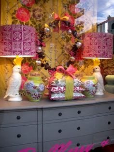 I've been meaning to post these photos of our Christmas windows at Black & Spiro which we installed last week.