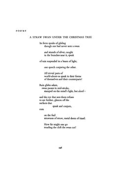 A Straw Swan under the Christmas Tree by Denise Levertov | Poetry Magazine