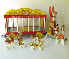 Vintage Fisher Price Toy Circus Wagon