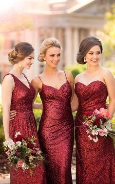 8884 Floor Length Sequin Bridesmaid Dress by Sorella Vita Christmas wedding inspiration by Magpie Wedding Sorella Vita Bridesmaid Dresses, Red Bridesmaids, Mismatched Bridesmaid Dresses, Burgundy Bridesmaid Dresses, Bridesmaid Dresses Online, Wedding Bridesmaid Dresses, Prom Dresses, Winter Wedding Bridesmaids, Long Dresses
