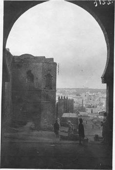 Kasba des Oudaïas   Un coin de la ville et des remparts de la kasba   1916.05.19