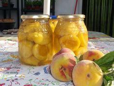 Cinco sentidos na cozinha: Pêssegos em calda- conservas de fruta