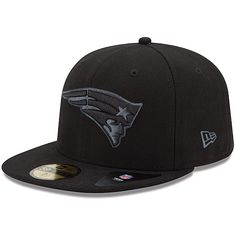 Mens New Era New England Patriots Black Grey Basic 59FIFTY® Structured  Fitted Hat - NFLShop da651f109