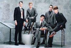 Alexander Johansson, Adrian Wlodarski, Javier de Miguel, Perre & Robin Barnet by Taka Mayumi for GQ Japan