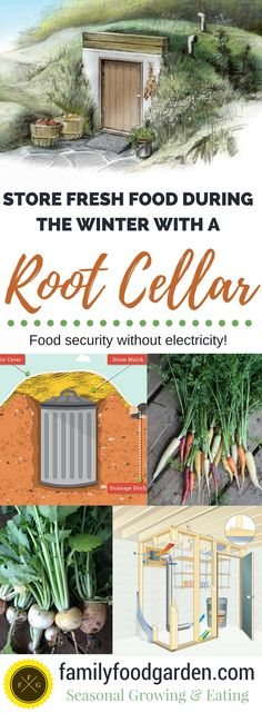 Root Cellars for Winter Food Storage root cellars: store fresh food with no electricity