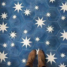 Hex star tiles by Popham design * Where I Stand * The Inner Interiorista Home Design, Layout Design, Design Ideas, Star Patterns, Floor Patterns, Decoration, Interior And Exterior, Tile Floor, Mosaics