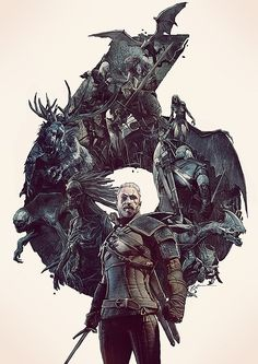 Geralt - The Witcher 3 Wild Hunt Art Silk Poster Print inch Hot Game Pictures for Living Room Decoration 021 The Witcher Wild Hunt, The Witcher 3, Witcher 3 Art, Witcher Wallpaper, Dark Fantasy, Fantasy Art, Hunting Art, Game Concept Art, White Wolf