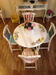 Country mitfak masa ve sandalyeleri