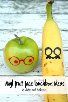Vinyl Fruit Face Lunchbox Ideas - Dukes and Duchesses