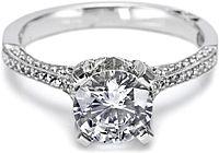 Tacori Pave Diamond Engagement Ring 2561