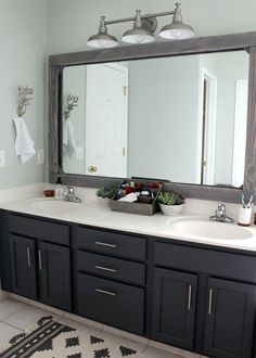 Slowly but surely we are bringing our #home out of 1997 and into 2017! Last year I worked primarily on our master #bedroom and dining room (plus an unexpected tile update in the 1/2 bath). These rooms are ALWAYS completed on a tight budget. And in the case of our master bathroom we made the ba