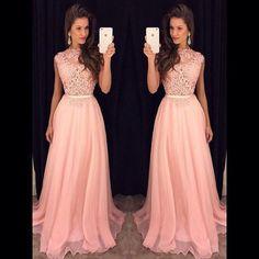 Appliques Custom Made A-Line Charming Prom Dress,Chiffon Formal Dresses,Evening Dresses On Sale