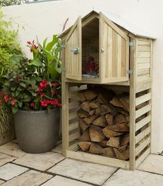 Drop Box and Store                                                                                                                This multifunctional storage unit is ideal for storing essentials right outside your back door. The bottom section offers slatted undercover storag