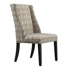Inspire Q Regency Chain-link Print Nailhead Wingback Hostess Chair (Set of 2) | Overstock.com Shopping - The Best Deals on Dining Chairs
