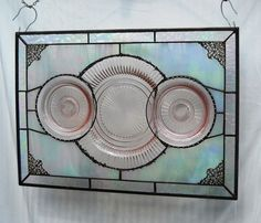 Pink Depression Glass Stained Glass Plate Panel by HeritageDishes, $99.95