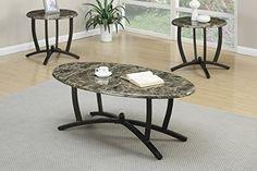 Modrest MH1307 Contemporary Wenge Coffee Table Set VGBBMH1307