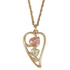Long Heart Black Hills Gold Pendant & Necklace