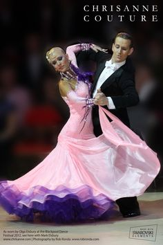 Oh, the beauty of ballroom dresses.
