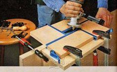 Hinge Mortising Jig - Cabinet Door Construction Techniques | WoodArchivist.com
