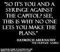 Quotes - haymitch-katniss-and-peeta fan art