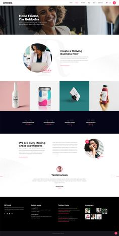 Arrosa WordPress theme comes bundled with astounding predesigned layouts for introducing your business in the best light. Website Color Themes, Create Your Website, All Themes, Social Icons, Website Design Inspiration, Business Presentation, Start Up Business, Creative Business, Wordpress Theme
