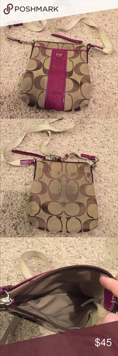 Coach Crossbody VGUC. Some wear on back and a few pen marks on inside. Coach Bags Crossbody Bags