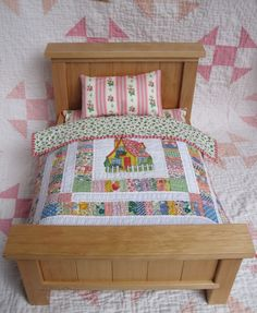doll quilt made by Martha at Q is for Quilter blog.