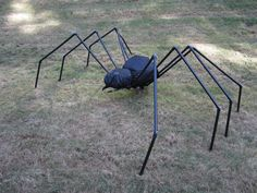 Halloween - PVC Yard Spider - Got Questions? Get Answers! Home Depot