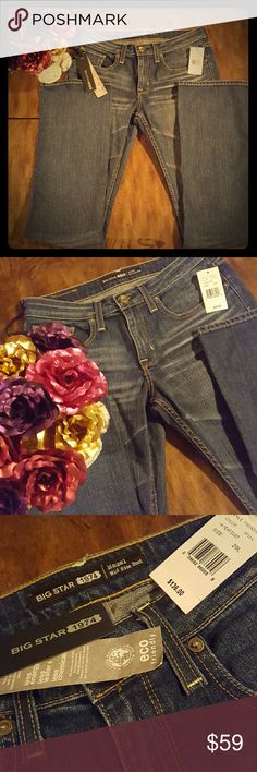 Big Star 29 long NWT Hazel midrise boot Brand new with tags size 29 long Big Star midrise boot jeans - awesome pair of jeans,  just don't fit me. My loss, your gain! 92% cotton 6% polyester 2% spandex Big Star Jeans Boot Cut
