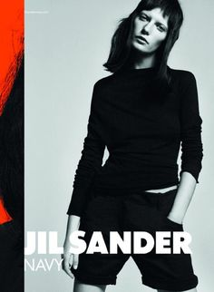 0154a6650a8dc3 Valerija Kelava stars in the spring 2011 campaign from Jil Sander Navy.  Lensed by David Sims and featuring a juxtaposition of the masculine and  feminine…