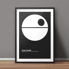 Star Wars Poster, Movie Poster, Minimalist Poster, Flat Poster Design, Clean Poster Design, Digital Printable Poster