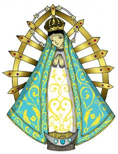 Dibujos para catequesis: VIRGEN DE LUJÁN Holy Rosary, Blessed Mother Mary, Madonna, Fiber Art, Princess Zelda, Holiday Decor, Cards, Painting, Fictional Characters