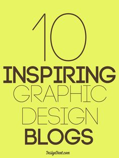 Love graphic design??? This is for you...10 Inspiring Graphic Design Blogs #graphic #design DesignBent.com