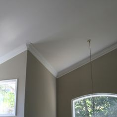 Love the way they did the outside corner moulding on a vaulted ceiling.