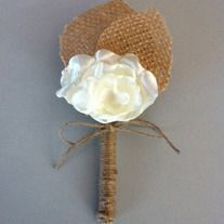 Rustic Boutonniere -Lace Boutonniere -Shabby Chic Wedding -Rustic Wedding -Burlap and Lace