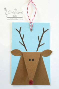 Reindeer Gift Tags | Fun Family Crafts