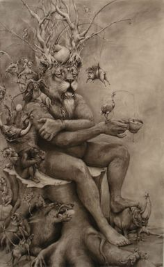 Adonna Khare's Large Scale Pencil on Paper works