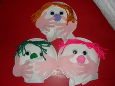 Cover your sneezes! Cute and easy craft to do with young children. I did this with my 2/3 year old group at daycare. Paper plate face, add googly eyes/ yarn hair/ pompom nose. Glue a tissue under the nose, then glue hands on top! I pre-cut everything for this age, but you could get older children to trace and cut out their own hands!
