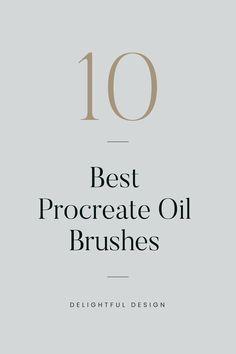 A review of the top 10 Oil Brush Sets for Procreate Personal Website Design, Minimal Website Design, Branding Template, Branding Design, Logo Design, Design Design, Web Design Tips, Web Design Trends, Design Layouts