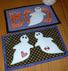 Getting ready for Halloween.....  Ghostly Duo Mug Rug_e_0aWo - via @Craftsy