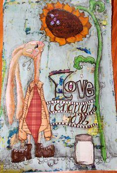 Rabbin & Love (mixedmedia pic)