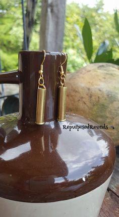 Bullet earrings by RepurposedRounds on Etsy