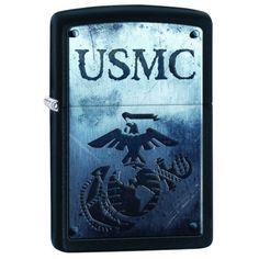 Zippo Windproof USMC With Marine Corp Logo Lighter