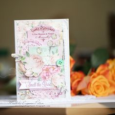 Smell Roses by Evgenia Petzer using BoBunny Madeleine Collection