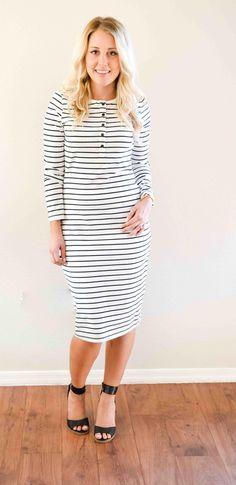 -Striped Staple Dress- – Shrieking Violet Attire