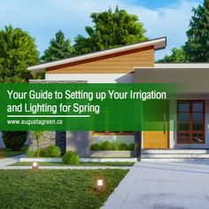 When it comes to set up and maintenance for your outdoor lighting and sprinkler systems, it pays to start early. Here's a short guide to getting your lighting and sprinklers ready for spring. Lighting Your Garden, Outdoor Lighting, Outdoor Decor, Driveway Lighting, Sprinkler Heads, Sprinklers, Landscape Services, Different Plants, Landscape Lighting